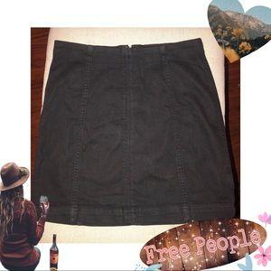 🌚ADORABLE Free People Black Denim Mini Skirt